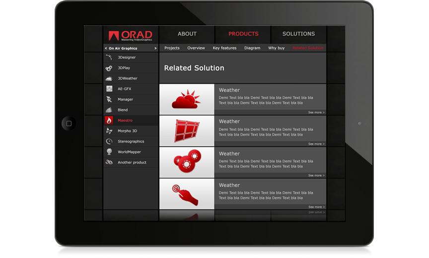 Orad Tablet app