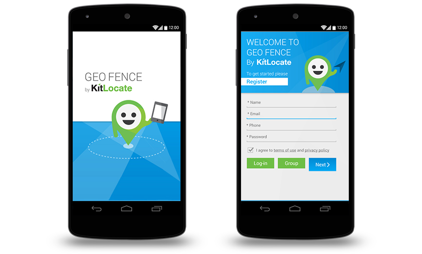 KitLocate Geo Fence App