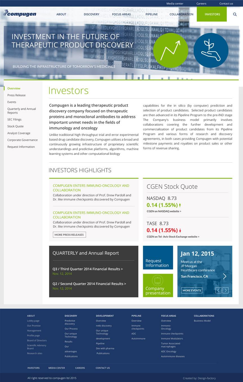 Compugen Website